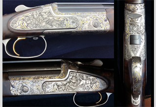 Blaser F3 - gold ornaments combined with scrolls.